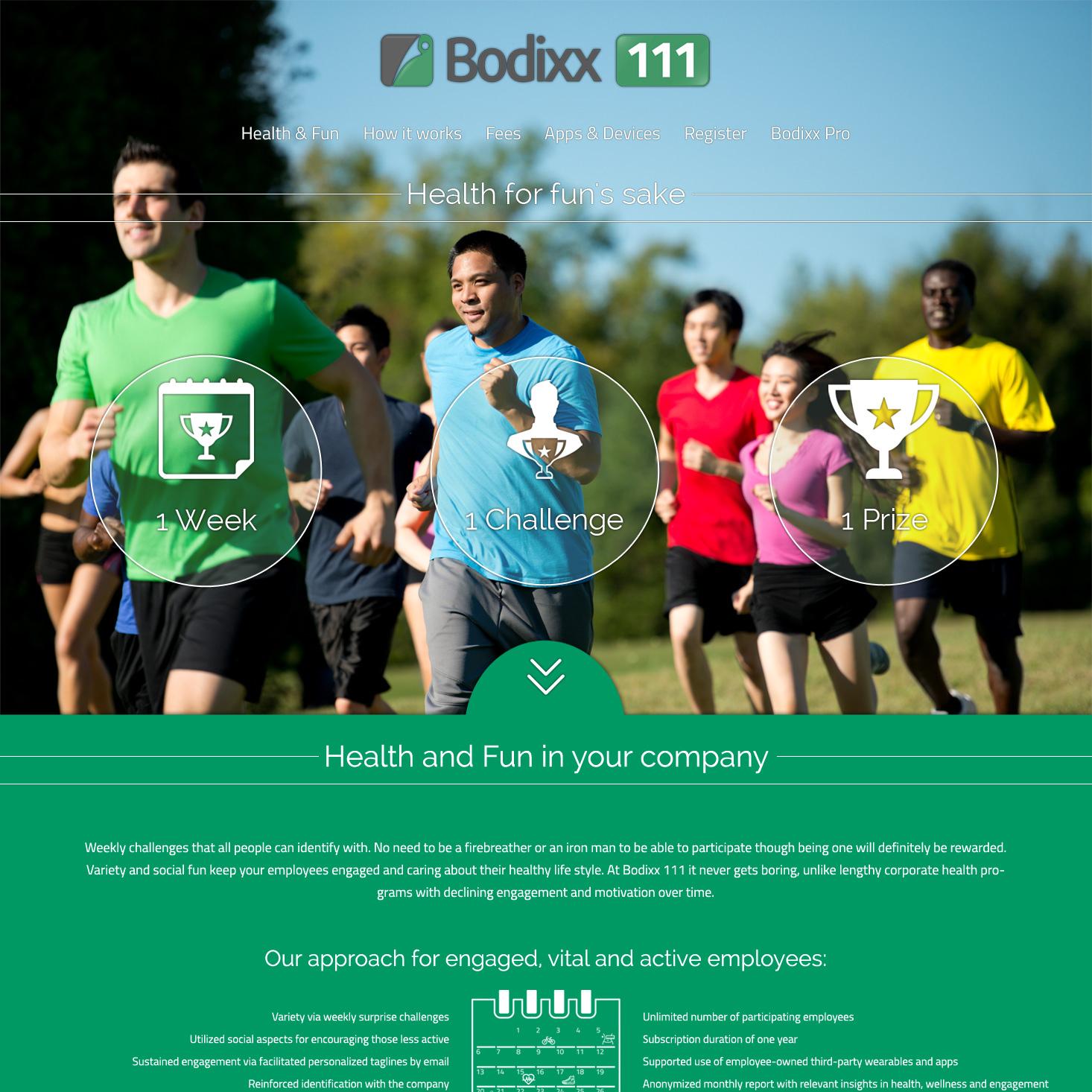 bodixx111 one page website design