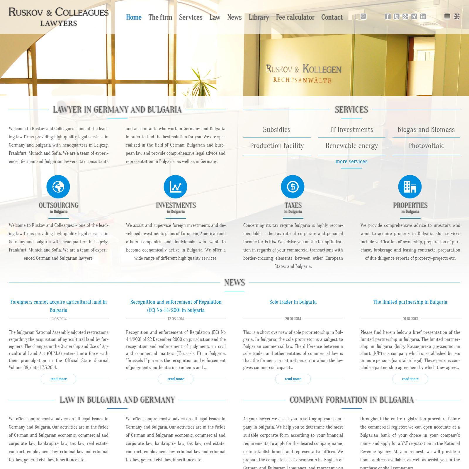 ruskov law website design