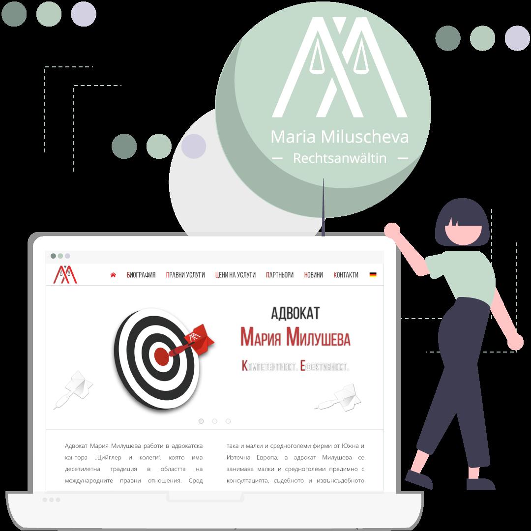 Maria Miluscheva – logo and web design