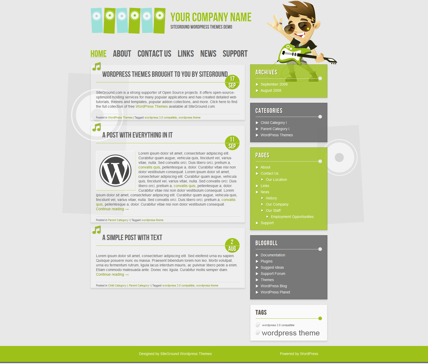 WordPress Theme for SiteGround