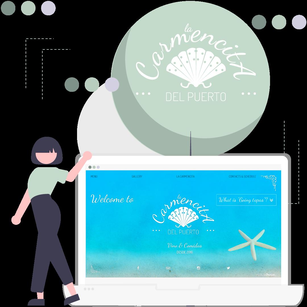 La Carmencita del Puerto – logo and website design
